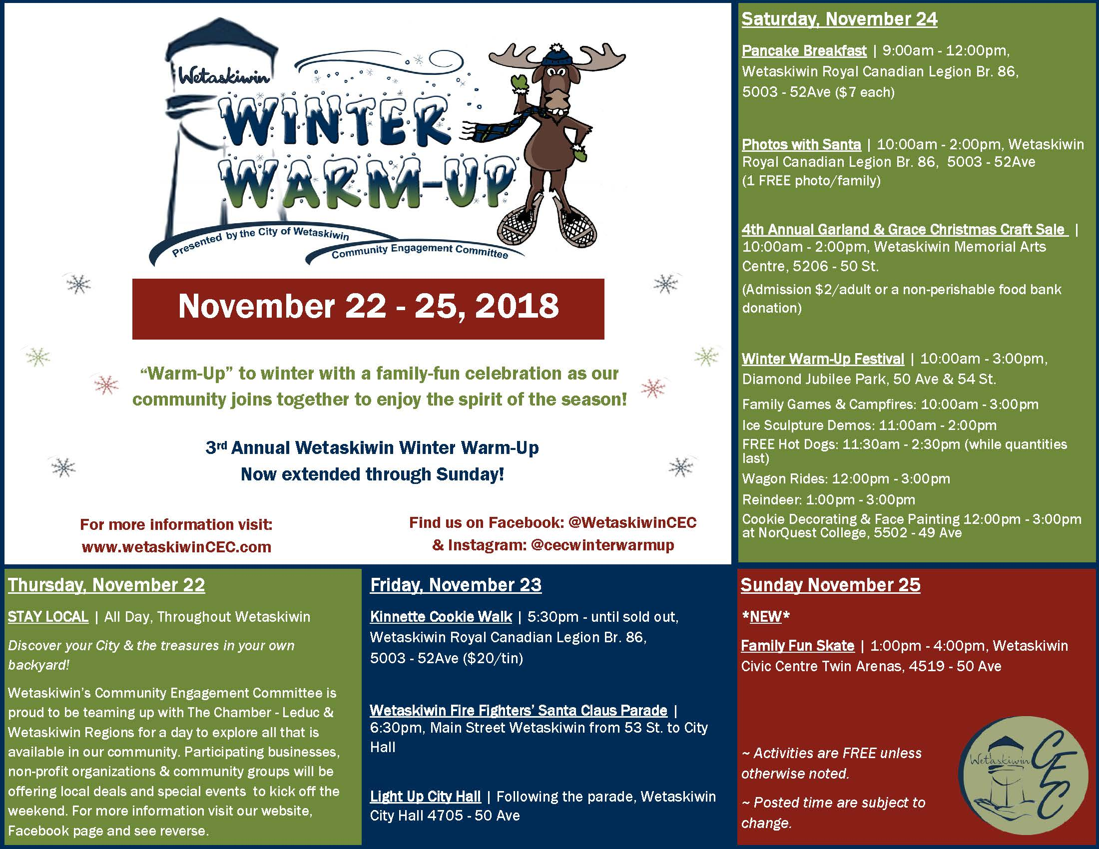 2018 Winter Warm Up Flyer Page 1