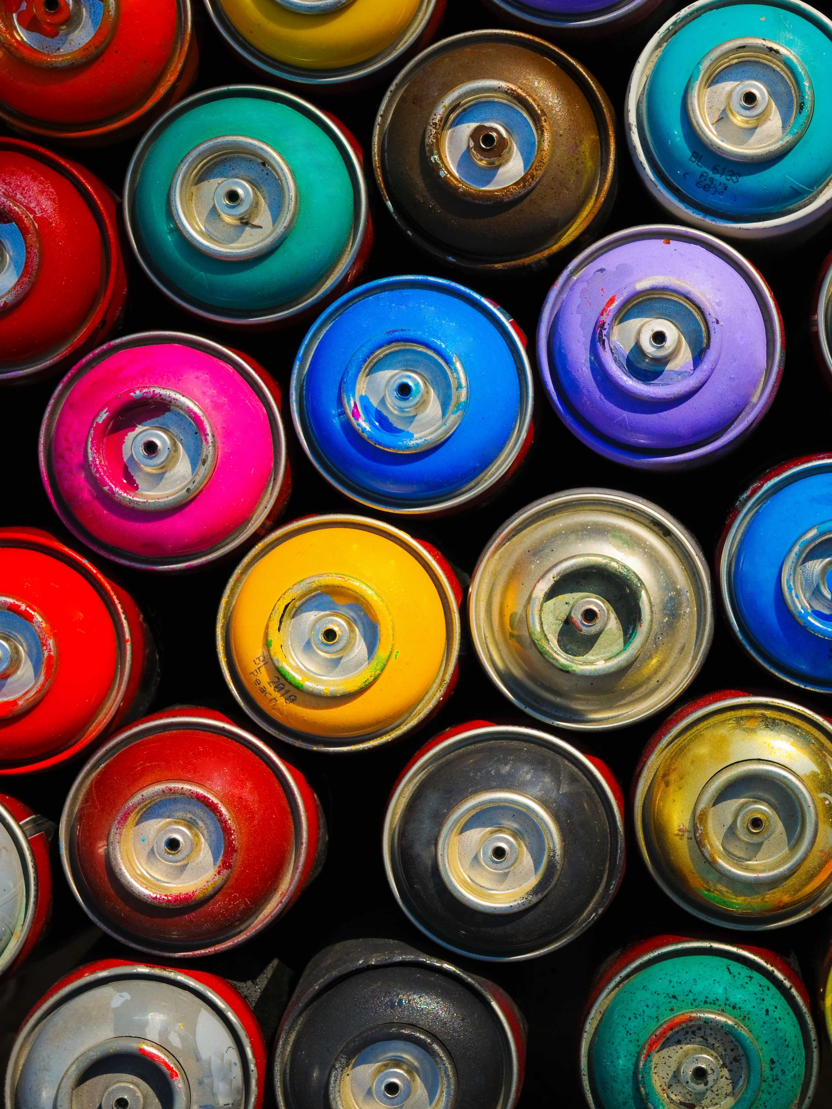 Used paint cans