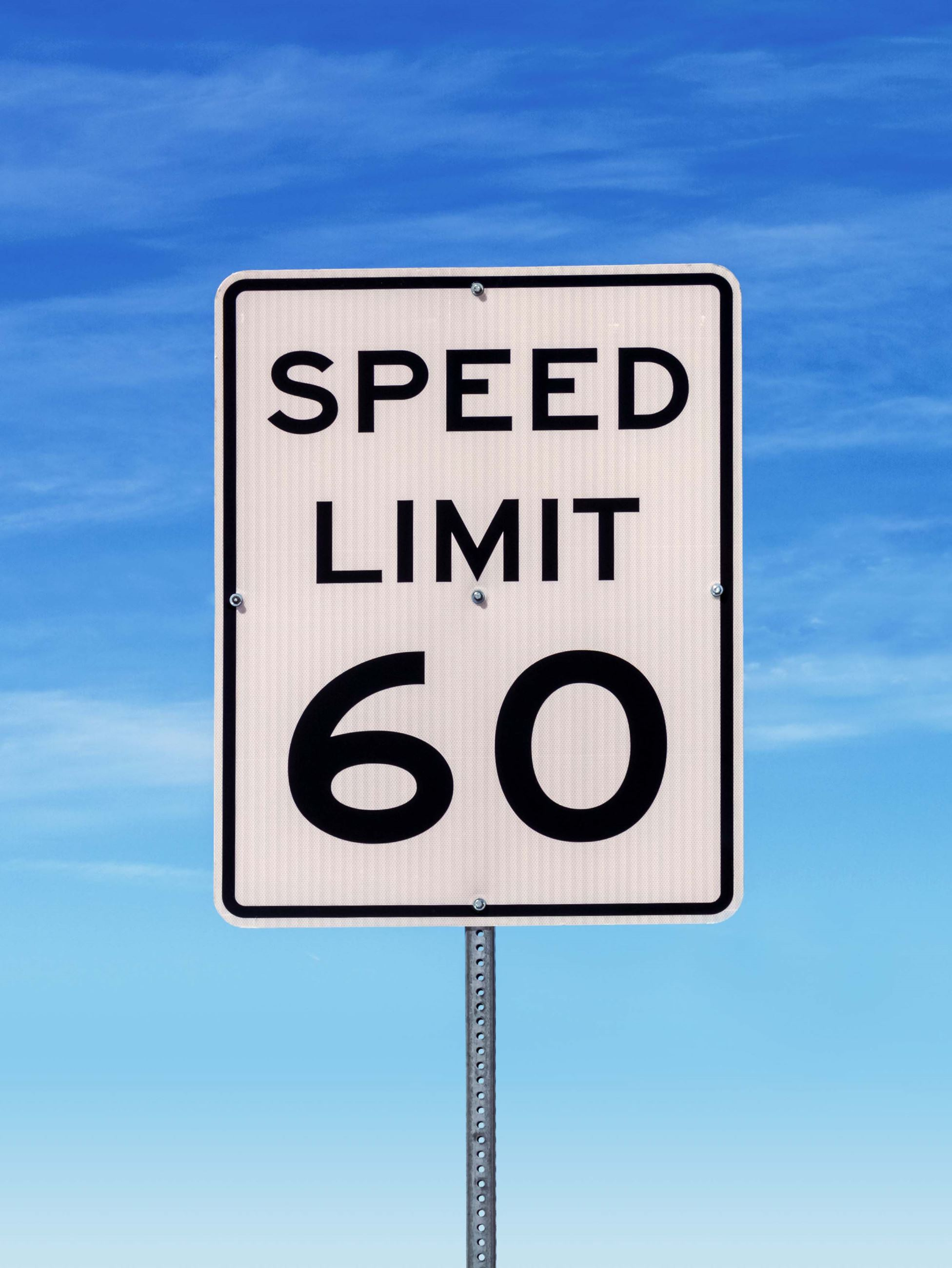 Speed Limit Sign of 60 kilometres per hour