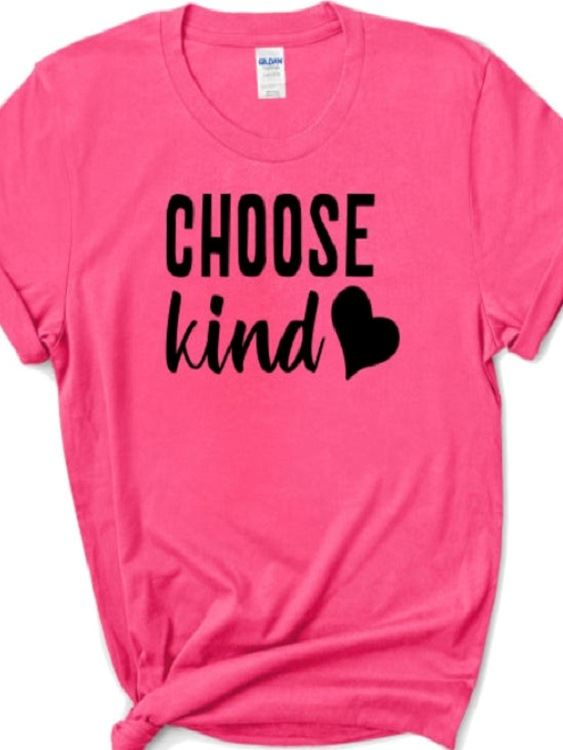 Choose Kind - pink shirt-newsflash