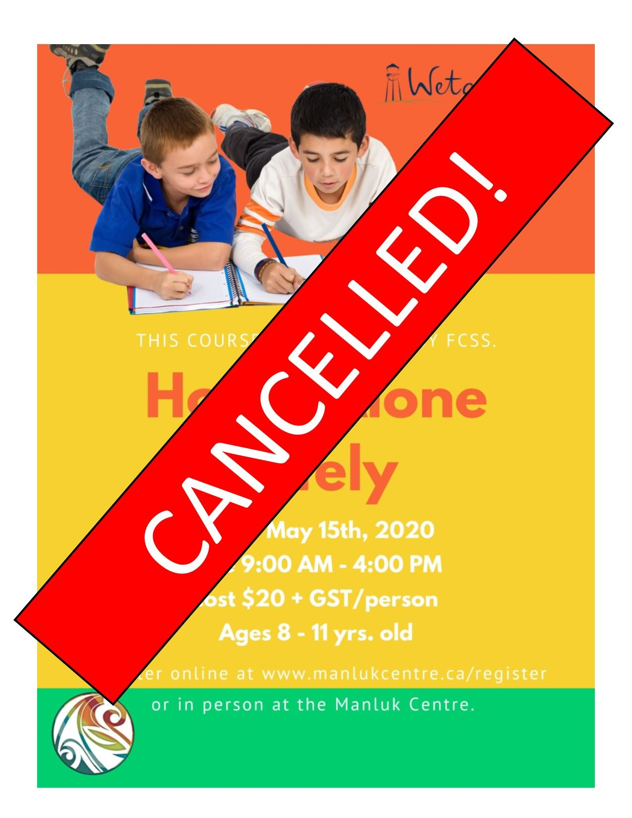 CANCELLED Spring Home Alone course - May 15th